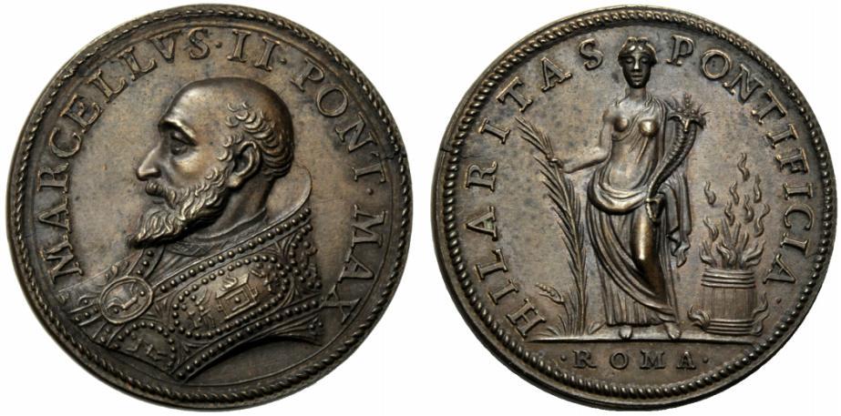 Papal Medals Marcello II. Sommo Pontefice (1555). Marcello Cervini di Montefano. Medaglia