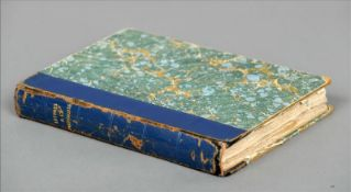 L`Adam Lascif. Lettres a la Marquise. The leather spined volume throughout with erotic scenes. Spine