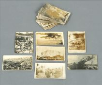 A collection of fifty World War I German postcards Each depicting various scenes including body