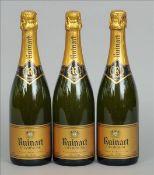 Ruinart Champagne, N.V. Three bottles. (3)