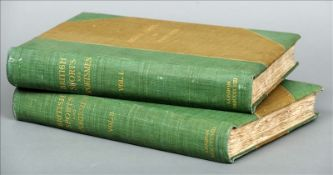 British Sports and Sportsmen, Past and Present Volumes I and II. Bindings stained/scuffed, some
