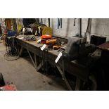 Steel Top Work Bench, W/ Vise