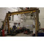 3 Ton Gantry Crane, W/ Pneumatic Hoist