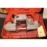 PORTA BANDSAW, MILWAUKEE MDL. 6239, w/carrying case  (Location D)