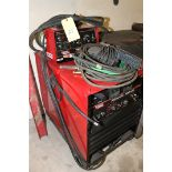 WELDING MACHINE, LINCOLN IDEALARC MDL. R3R-400, new 2005, Lincoln TIG Module, leads, some welding