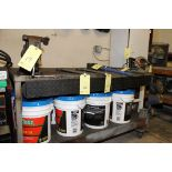 """WORKTABLE, 36"""" dp. X 60""""L., 2-tier, built-in drawers, H.D., caster mtd.  (Location D)"""