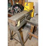 SLITTER, WILDER MACHINERY SERIES WILDER WORKHORSE MDL. 1624, 18 ga. mild steel, infeed/outfeed