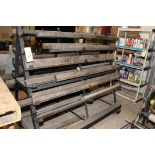 A-FRAME ROLLING DIE RACK, w/numerous assorted dies  (Location D)