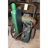 TORCH CART, pneu. tires, w/torch hose, gauges & accessories  (Location D)