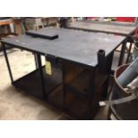 """ROLLING WORKTABLE, 46"""" x 60"""" surface, 2-tier  (Location D)"""