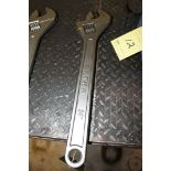 """LARGE ADJUSTABLE WRENCH, EXTRA 24""""  (Location D)"""