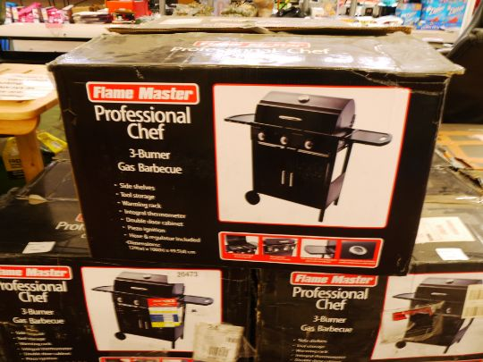 Flame Master Bbq.Flame Master Professional Chef 3 Burner Gas Bbq Boxed Rrp 163