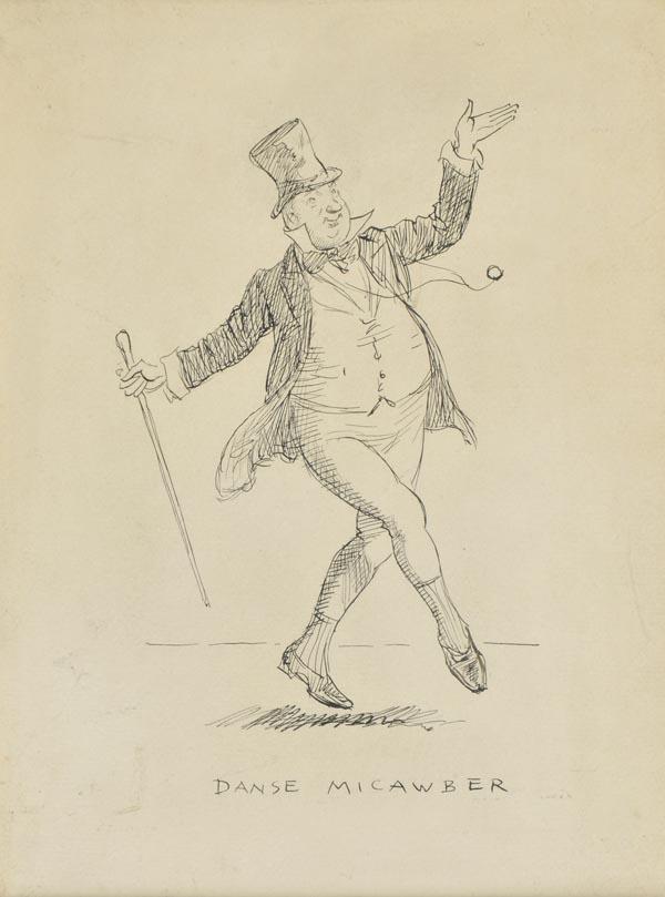 Lot 232 - * Shepard (Ernest Howard, 1879-1976). Danse Micawber, pen and black ink on laid paper, inscribed