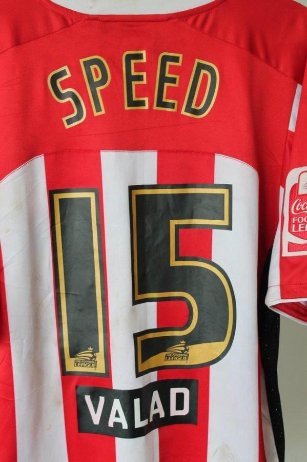 Gary Speed`s Sheffield shirt -  Gary Speed`s Sheffield United matchworn shirt from March 2008.