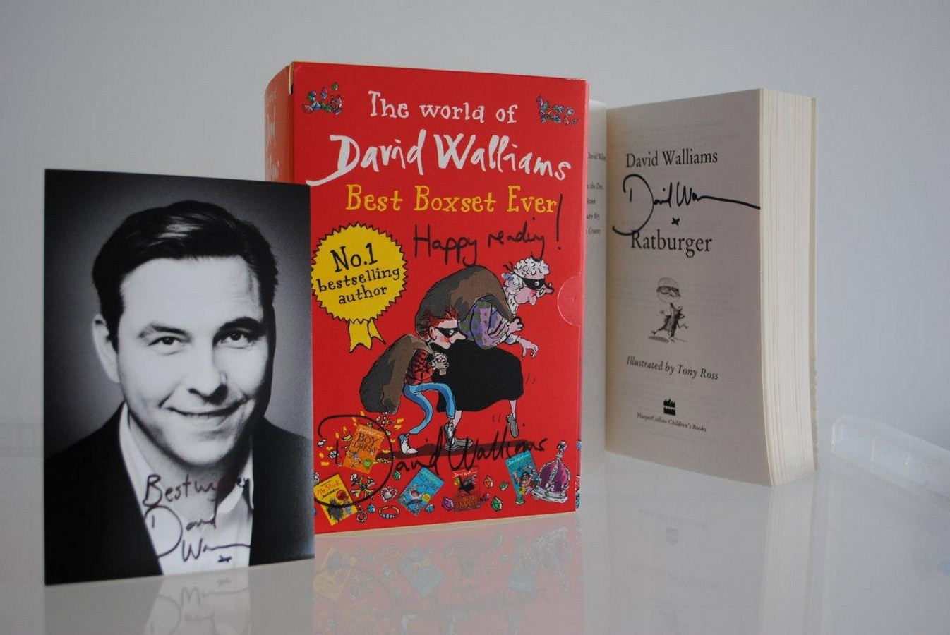 David Walliams` Box Set       - signed by the author. Ideal for children aged 8 and over, `The World
