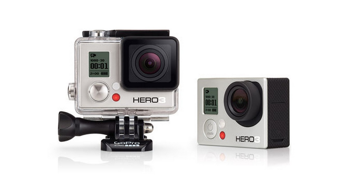 HERO3 White Edition GoPro camera. The perfect entry-level GoPro camera featuring video resolutions