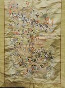 A Chinese woven silk panel Decorated in the Hundred Boys pattern.  Approximately 120 cms high.