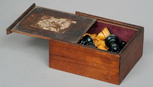 A 19th/20th century Staunton pattern chess set by Jaques & Son, London Of typical form, housed in