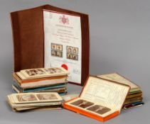 A collection of French stereo viewing slides, circa 1890 Together with a stereo viewer.  Note:  Ex