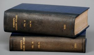 Sowerby's English Botany In eleven volumes with gilt tooled leather spines, edited by John T.
