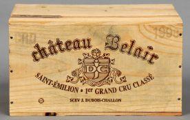 Chateau Belair Dubois-Challon, Premier Grand Cru Classe Saint-Emilion Grand Cru 1998 Six bottles