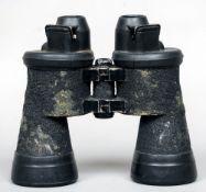 A pair of German World War II Third Reich Dienstglas fixed focus U-boat binoculars by Emil Busch A.