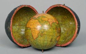 An 18th century 2 3/4 inch terrestrial pocket globe, attributed to George Adams, London The twelve