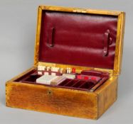 A 19th century animal specimen clad games compendium by Rowland Ward The hinged rectangular box