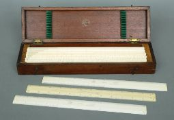 A boxed set of twelve ivory draughtsman's rulers made by Keuffel & Esser, New York, circa 1900 36