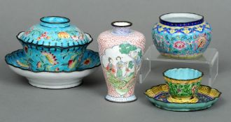 A finely painted Chinese Canton enamelled vase With 18th century four character Chien Lung