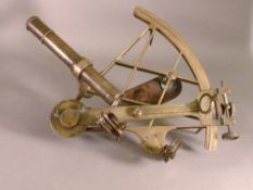 A 19th century Continental sextant The brass instrument inscribed H. Haecke Neukolln and numbered