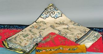 A late 19th/early 20th century Chinese embroidered silk jacket Decorated with figures amongst