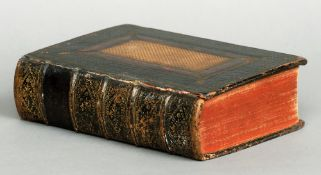 An 18th century leather bound Bible, printed by John Baskett Printed to Oxford University and