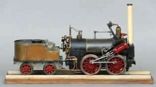 """A Scratch built 3.5"""" gauge scale model engine and tender """"Canterbury Lamb"""" Together with a full"""