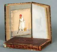 Two 19th century albums Each containing various watercolours, prints, etchings, sketches, etc.