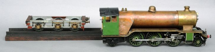 """A Scratch built 3.5"""" 262 gauge engine and tender Bantam cock  Requiring completion including paint"""