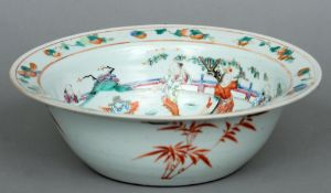 A 19th century Chinese bowl Decorated with various children  playing in a garden.  30 cms diameter.