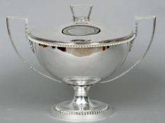 A George III silver tureen and cover, hallmarked London 1802, maker's mark of DS & BS The