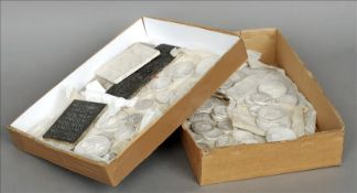 A quantity of various 19th century plaster intaglios Of various forms and sizes. Some chipping,
