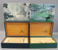 FOUR ROLEX WRIST WATCH BOXES CIRCA 1980/90s, NUMBERED 68.00.55 FOR ROLEX OYSTER PERPETUAL, DAYTONA,