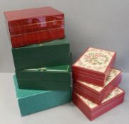SEVEN ASSORTED ROLEX WRIST WATCH BOXES CIRCA 1990/2000s, NUMBERS INCLUDE 70.007, 60.012, 81.00.09,
