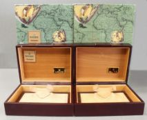 TWO ROLEX WRIST WATCH BOXES CIRCA 1990/2000s, NUMBERED 71.00.05 FOR ROLEX DAY-DATE Wood cases with