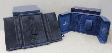 TWO WRIST WATCH BOXES CIRCA 2000s, CHOPARD & HARRY WINSTON Inner and outer boxes with watch