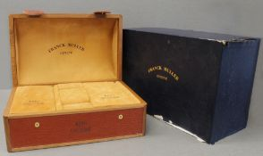 ONE LARGE FRANCK MULLER KING CONQUISTADOR WRIST WATCH BOX CIRCA 2000s With outer box, brown leather