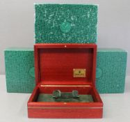 THREE ROLEX WRIST WATCH BOXES CIRCA 1990s, NUMBERS INCLUDE 69.00.09, 64.00.7 FOR ROLEX DAY-DATE