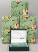 FIVE ROLEX WRIST WATCH BOXES CIRCA 1990s, NUMBERED 11.00.01 FOR ROLEX DATEJUST, SUBMARINER, SEA