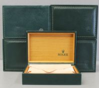 FIVE ROLEX WRIST WATCH BOXES CIRCA 1980/90s, NUMBERED 68.00.2 FOR ROLEX OYSTER QUARTZ MODELS Green