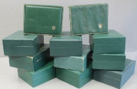 ELEVEN ASSORTED ROLEX WRIST WATCH BOXES CIRCA 1970/80s, NUMBERS INCLUDE 11.002, 68.00.08, 10.001,