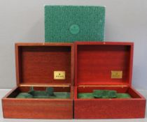 TWO ROLEX WRIST WATCH BOXES CIRCA 1990/2000s, NUMBERS INCLUDE 81.00.09, 81.00.71 FOR ROLEX DAY-DATE