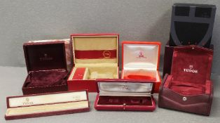 SEVEN ROLEX TUDOR WRIST WATCH BOXES CIRCA 1960/70/80/90/2000s All the boxes have watch holders/